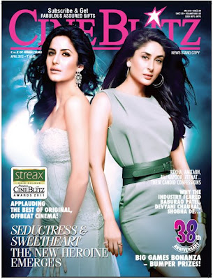 Kareena and Katrina first time on cover page of Cineblitz Magazine