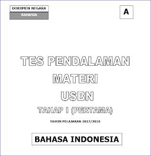 akan kami bagikan dalam postingan kali ini sebagai tambahan referensi bagi Bapak Contoh Soal USBN SMP/MTs Bahasa Indonesia 2017/2018