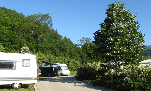 Camprodon: pàrquing de la nostra pernocta amb autocaravana