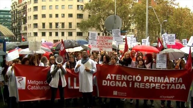 Huelga de médicos en Cataluña para denunciar deterioro sanidad