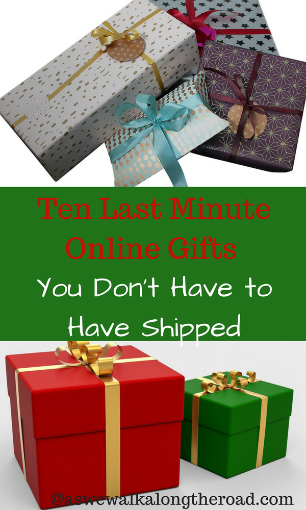 Last minute online gifts