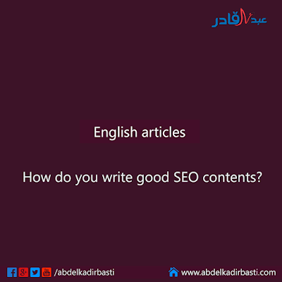How do you write good SEO contents