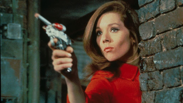 Diana Rigg in a still from the TV series 'The Avengers'