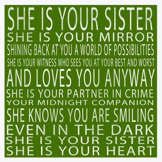 Short Sweet I Love You Quotes: Today Is My Sister's Birthday!