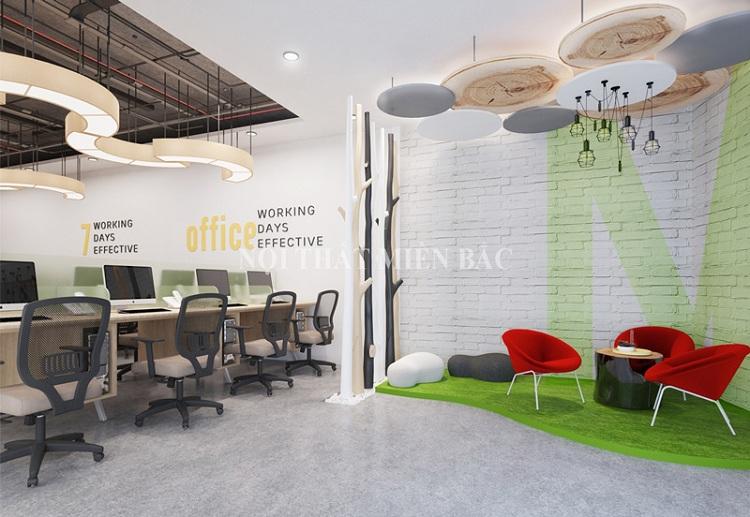 Thiết kế nội thất phòng làm việc tạo không gian nhóm sáng tạo