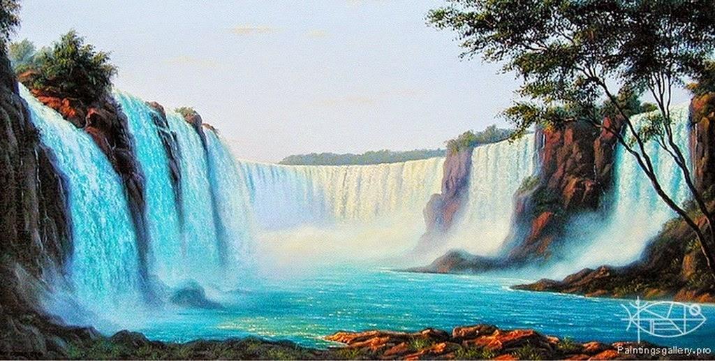 Cuadros modernos pinturas y dibujos impresionantes for Cascadas artificiales de agua para piscinas