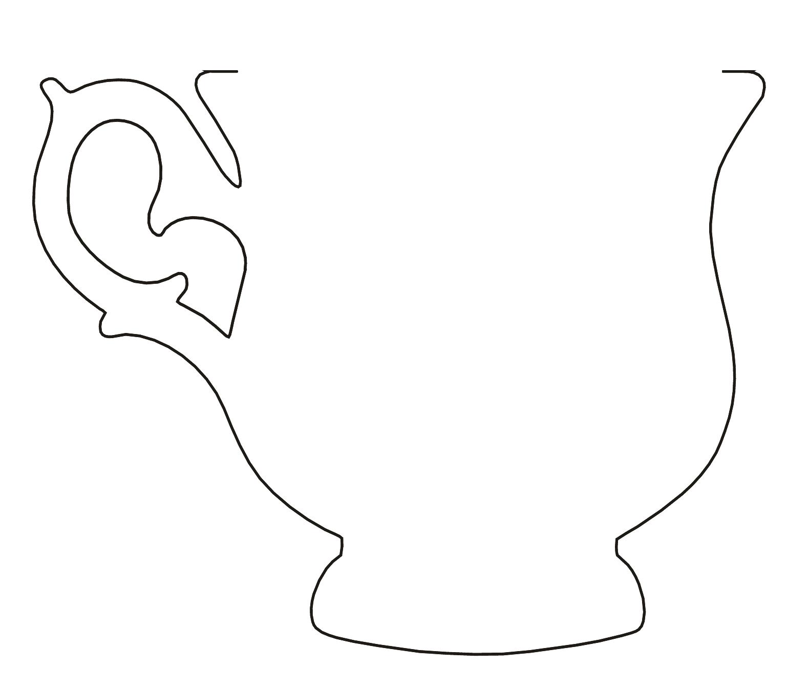 Чашка шаблон для открытки