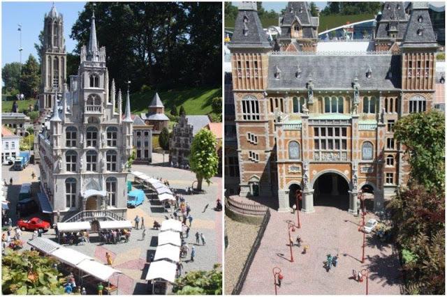 14 Ayuntamiento de Gouda – 27 Museo Rijksmuseum de Amsterdam en el parque Madurodam en La Haya Den Haag