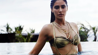 Nargis Fakhri in Gloden Bikini Photoshoot
