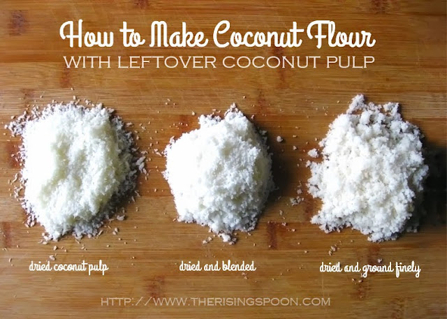 Learn how to make your own coconut flour using leftover coconut pulp from homemade coconut milk. Doing this will give you two products for the price of one!