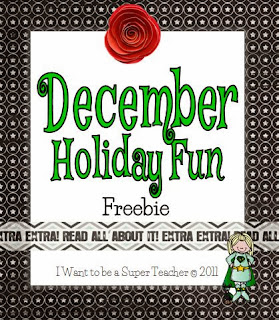 Ideas and freebies for December in the elementary classroom includes free printables, student gifts, and an idea for Random Acts of Classroom Kindness (RACK)