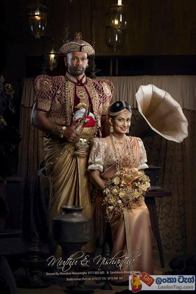 kandyan wedding dress muthu tharanga