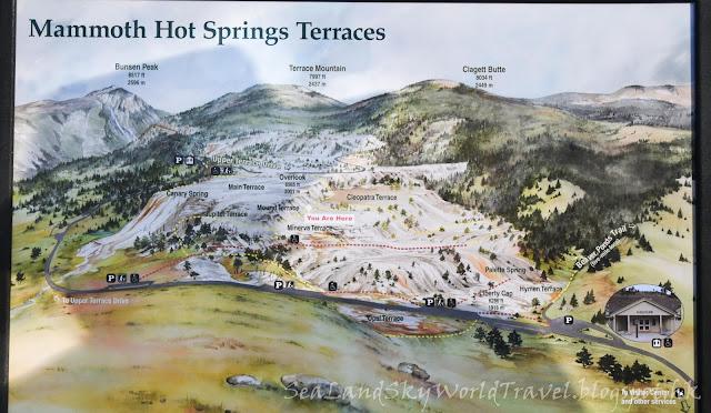黃石國家公園, yellowstone national park, map, 地圖, mammoth hot spring