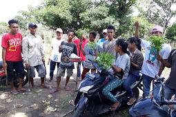 Luar biasa antusias mahasiwa tadewa bersama pemuda tadewa dalam melakukan penghijauan  disepanjang jalan desa tadewa kecamatan wera