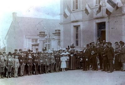Bataillon scolaire de Naintré à la Fête du 14 juillet