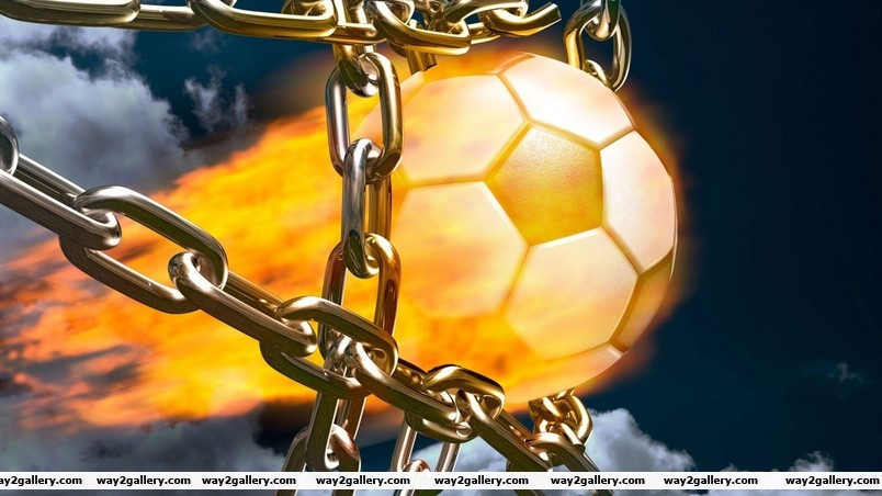 Football fire ball wallpaper