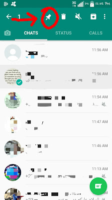 Pin your favorite contacts on whatsapp