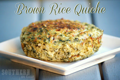 Brown Rice Frittata - Gluten Free, Low Fat, Healthy