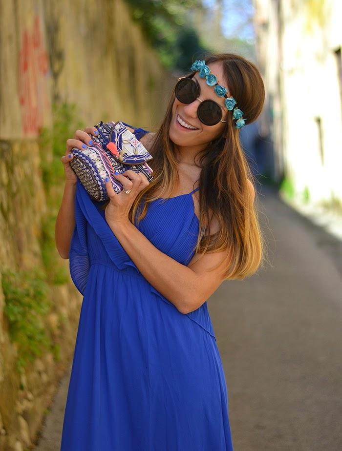 dadf685d7c70 royal blue long dress. Abito e ballerine  Compania Fantastica
