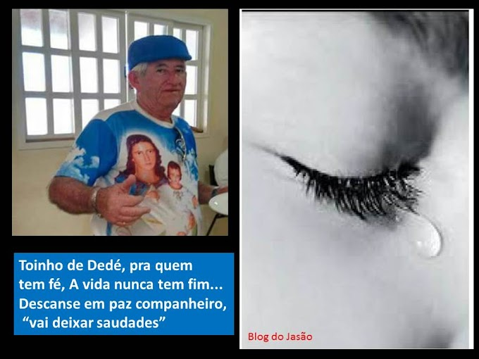 """É  Com  grande  pesar  que  noticiamos  a  morte  do  meu companheiro  de  profissão """"Toinho de Dedé"""" motorista da Secretaria de Saúde de João Câmara."""