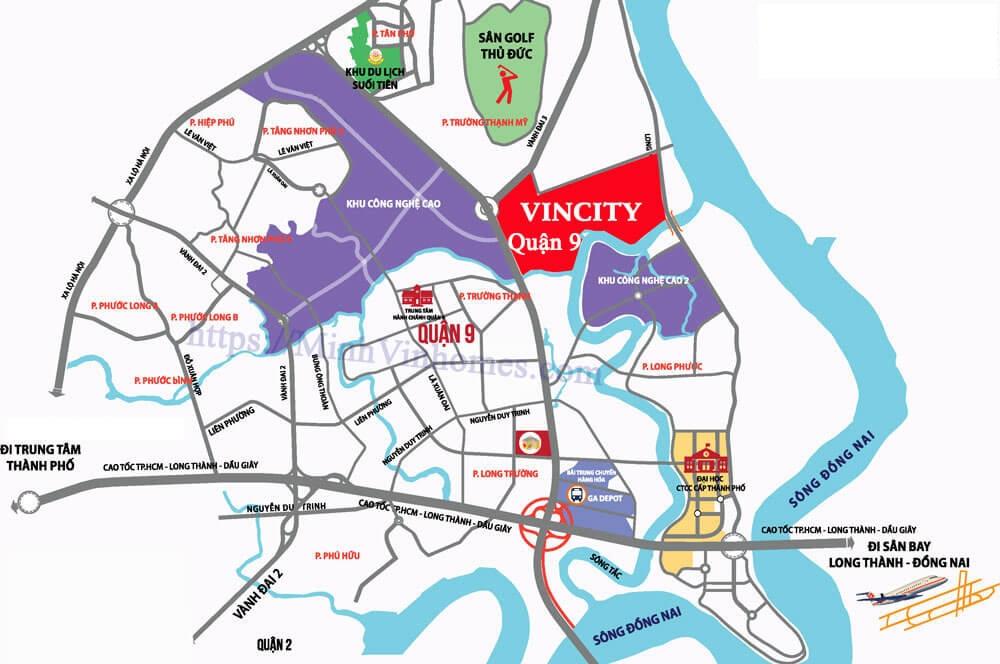 Vị trí dự án căn hộ Vincity New Saigon