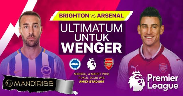 Prediksi Brighton Hove Albion Vs Arsenal, Minggu 04 Maret 2018 Pukul 20.30 WIB
