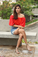 Rhea Chakraborty in Red Crop Top and Denim Shorts Spicy Pics ~  Exclusive 362.JPG