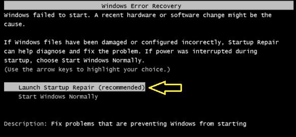 Kenapa Muncul Windows Error Recovery Di Windows 7 Belajar