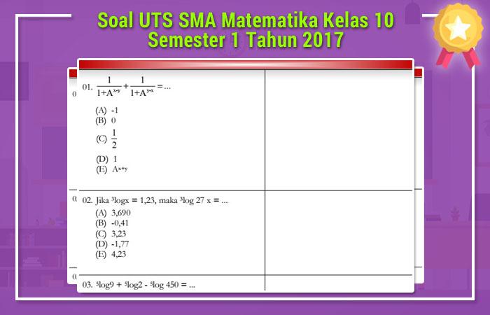 Soal UTS SMA 2017