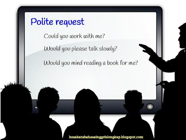 contoh polite request - ajakan atau permintaan yang formal