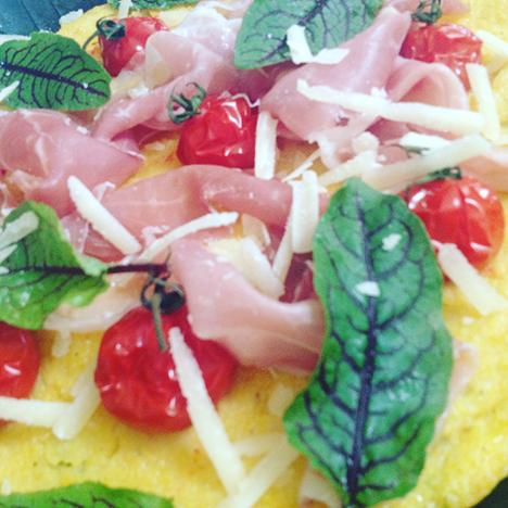 Polentapizza mit Prosciutto di San Daniele_My Kitchen Logbook by Marlene Grünzweil