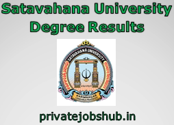Satavahana University Degree Results