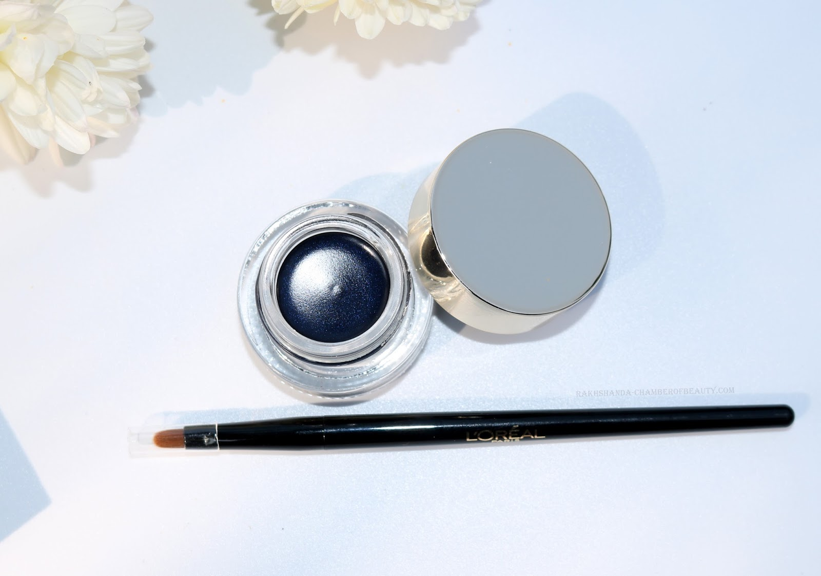 L'Oreal Super Liner Sapphire Blue Gel Intenza 36 Hours Eyeliner Review/beauty blogger/ gel eyeliner