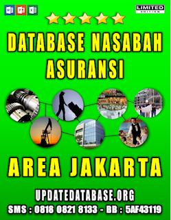 Jual Database Nasabah Asuransi Jakarta