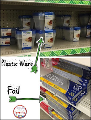 The Dollar Store:great place for science supplies including plastic ware and foil sheets. These pre-cut sheets are the easiest ever!