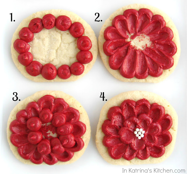 Winter Flower cookies by Katrina of In Katrina's Kitchen