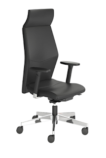 Eden high back leather office chair
