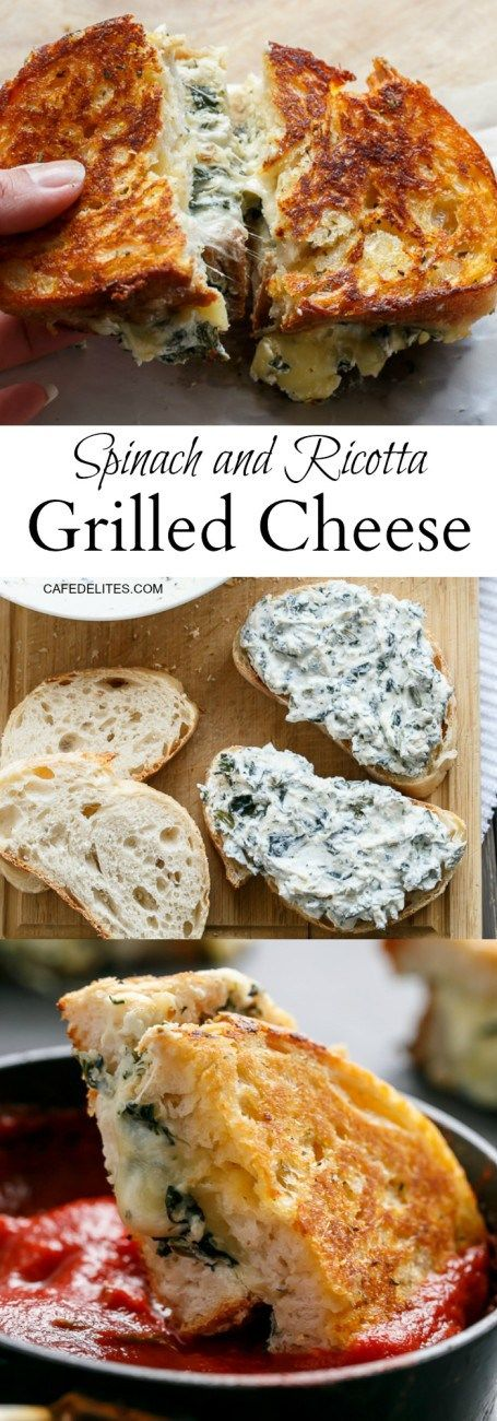 ★★★★☆ 6172 ratings       | spinach and ricotta grilled cheese #spinach #ricotta #grilled #cheese #Healthy