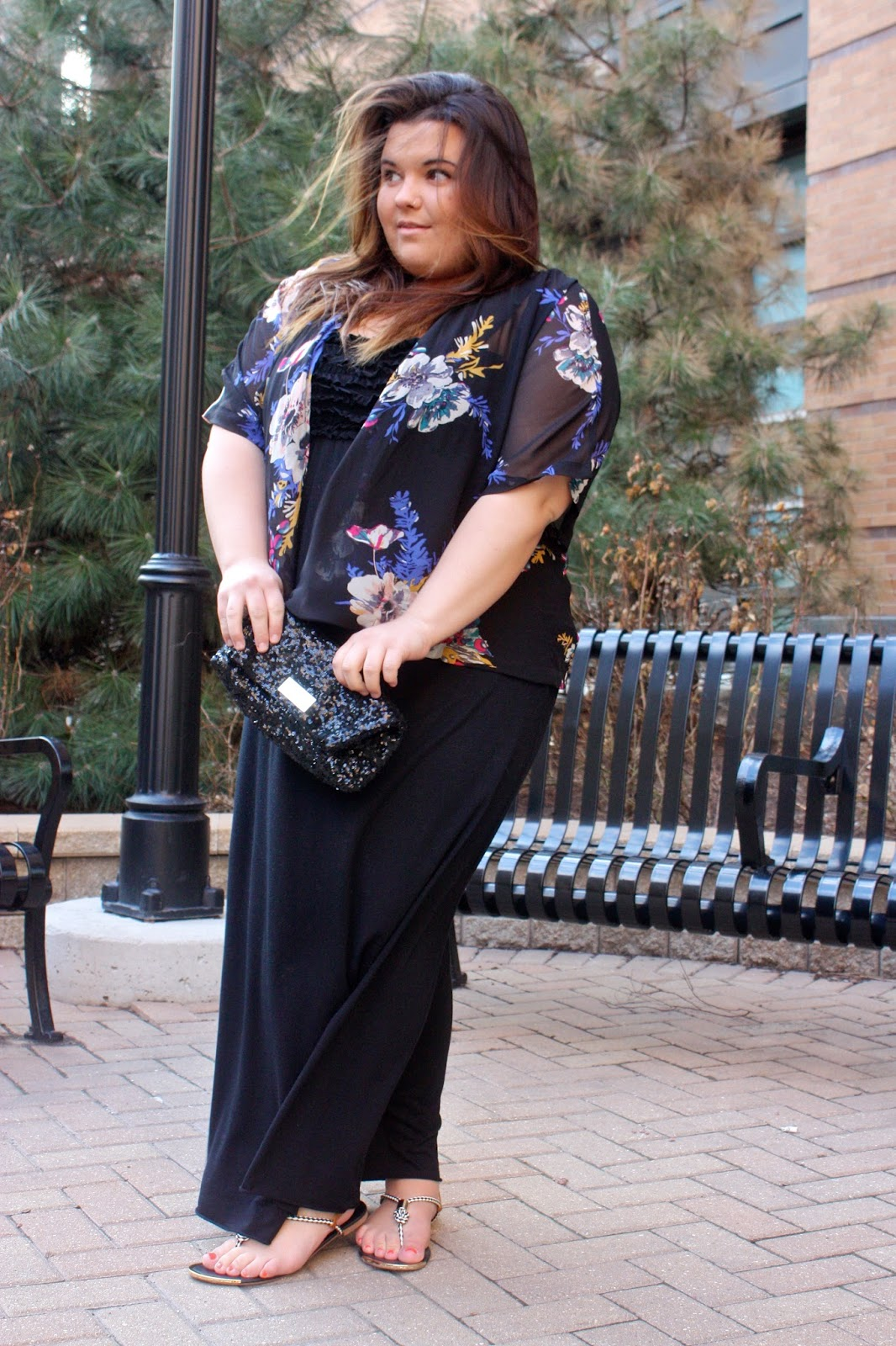 kimono, japanese fashion, forever 21, natalie craig, natalie in the city, plus size fashion, plus size fashion blogger, maxi dress, summer fashion, spring fashion 2014, sequin clutch, victorias seceret