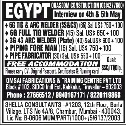 orascom construction egypt jobs