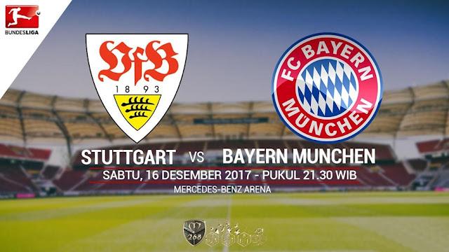 Prediksi Bola : Stuttgart Vs Bayern Munchen , Sabtu 16 Desember 2017 Pukul 21.30 WIB