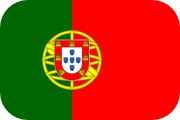 Rounded flag of Portugal