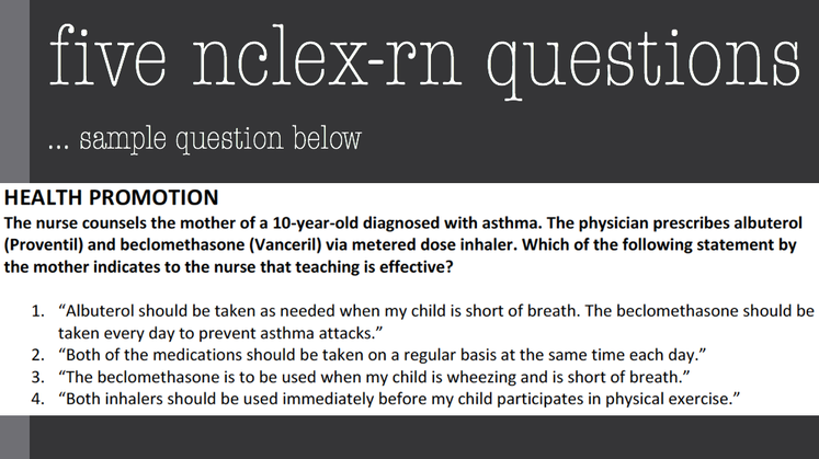 Nurse Nacole Nursing Resources: Five FREE NCLEX-RN Questions
