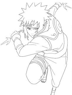 Sketsa Mewarnai Gambar Kartun Naruto 201614