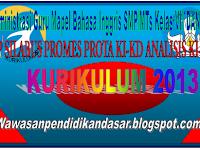 RPP Silabus,Promes,KI KD Bahasa Inggris SMP/MTs Kelas VII dan VIII Kurikulum 2013