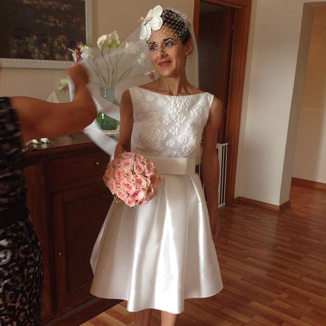 vestito corto sposa