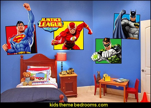 Justice League Wall Decals   Superheroes bedroom ideas   batman   spiderman    superman decor   Captain America   comic book. Decorating theme bedrooms   Maries Manor  Superheroes bedroom