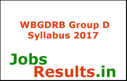 WBGDRB Group D Syllabus 2017