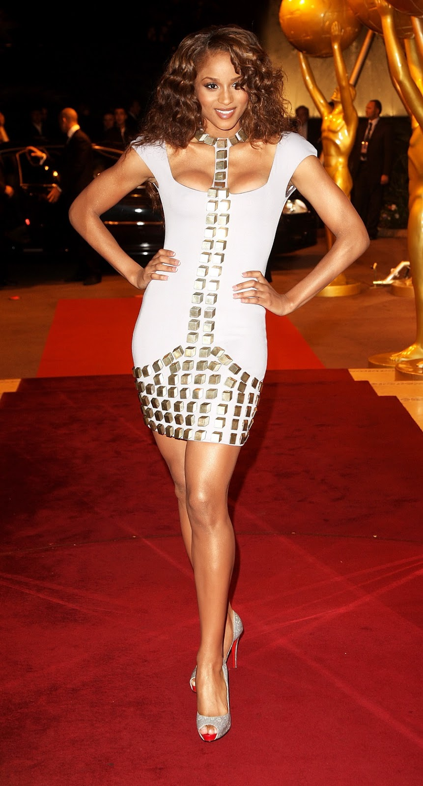 ciara cleavage hq awards arrivals 2007 legs american actress tags