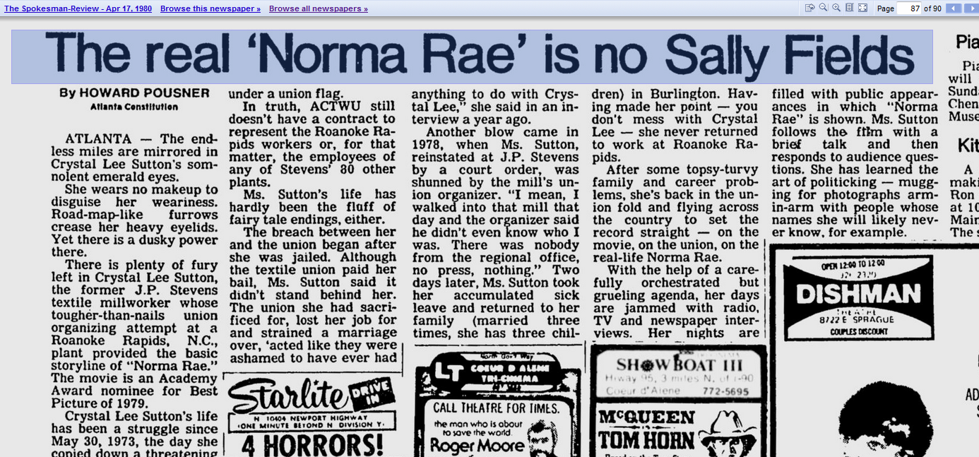 """norma rae research papers Watch movie and answer these questins """"norma rae movie"""" q1:was norma rae a visionary or representative our research paper writing service is what you require."""